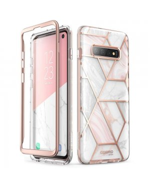 Samsung Galaxy S10 Mobilskal - Supcase Cosmo - Marble - Rosa