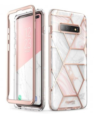 Samsung Galaxy S10 Plus Mobilskal - Supcase Cosmo - Marble - Rosa