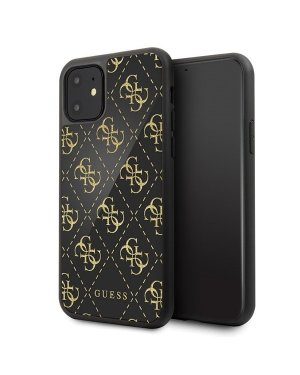 iPhone 11 Mobilskal - Guess - Double Layer Glitter - Svart