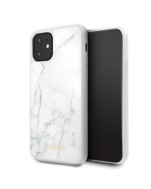 iPhone 11 • Mobilskal • Marble • GUESS • Vit