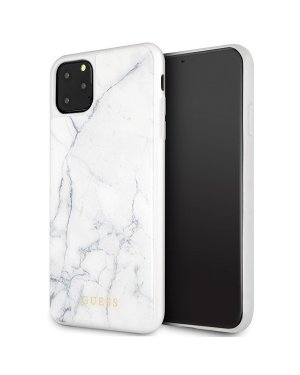 iPhone 11 Pro Max • Mobilskal • Marble • GUESS • Vit