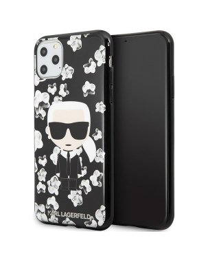 iPhone 11 Pro Max Mobilskal - Karl Lagerfeld - Black Flower Ikonik Karl