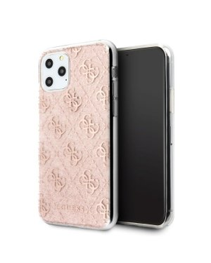 iPhone 11 Pro Max Mobilskal - Guess - Glitter - Rosa