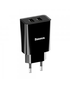 Baseus wall charger adapter 2x USB 2.1A 10,5W black (CCFS-R01)