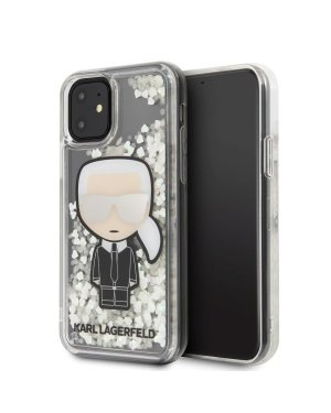 iPhone 11 Mobilskal - Karl Lagerfeld - Ikonik Glitter Glow in the dark