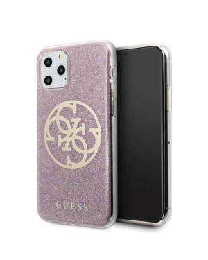 iPhone 11 Pro Mobilskal - Circle Glitter - GUESS - Rosa