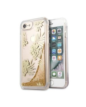 iPhone 6 / 6S / 7 / 8 / SE (2020)  - Mobilskal - Palm Springs Glitter Liquid - GUESS - Guld