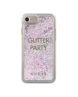 iPhone 6 / 6S / 7 / 8 / SE (2020) - Mobilskal - Liquid Glitter Party - GUESS - Lila