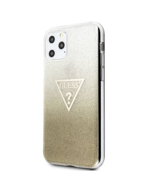 iPhone 11 Pro Max Mobilskal - Triangle Glitter - GUESS - Guld