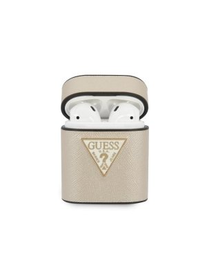 Skal • AirPods 1 / 2 • Guess • Saffiano • Beige
