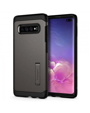 Galaxy S10 Plus Mobilskal - Spigen Tough Armor - Gunmetal