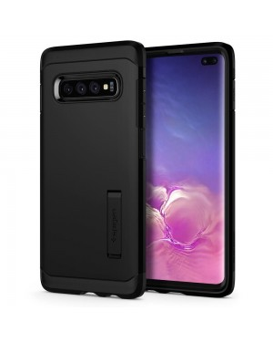 Galaxy S10 Plus Mobilskal - Spigen Tough Armor - Svart