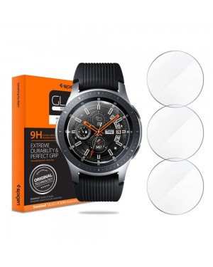 Galaxy Watch 46mm Skärmskydd - 9H Härdat glas - Spigen Glas.Tr Slim - 3-pack