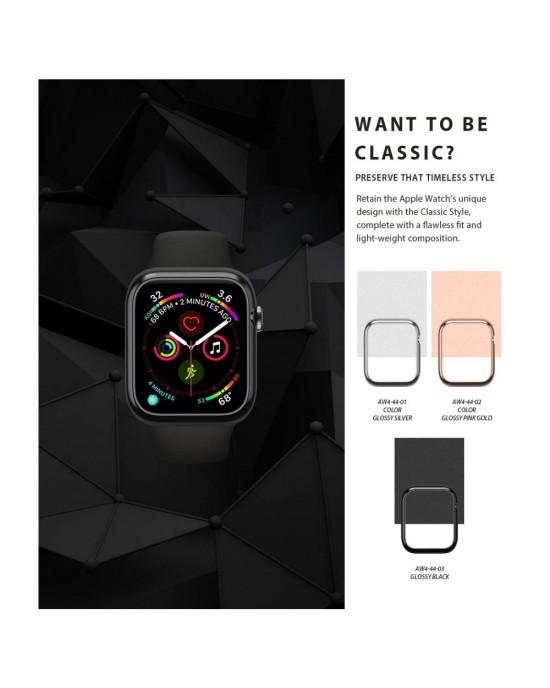 Design Bezel • Apple Watch 4/5 (44MM) • Ringke • Blank Silver