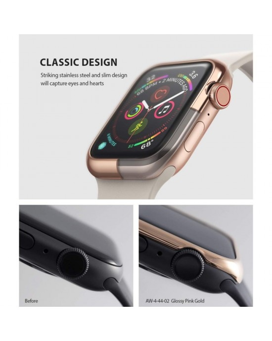 Design Bezel • Apple Watch 1/2/3 (42MM) • Ringke • Pink Gold