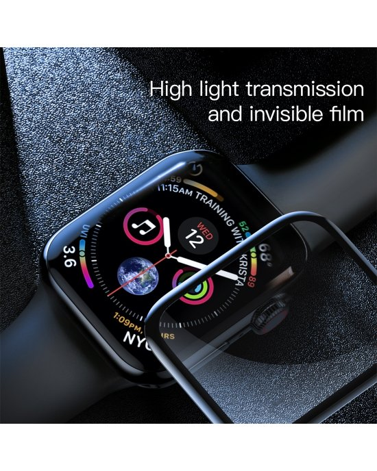 Apple Watch Series 4 skärmskydd - Härdat glas 9H - 3D Curved Edge