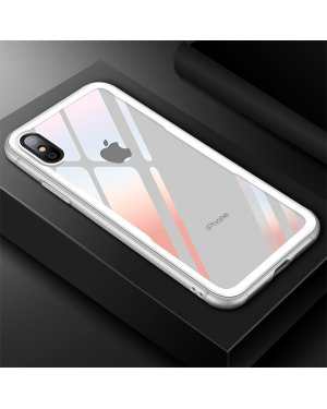 iPhone XS Glass Case X - Härdat glas - Vit