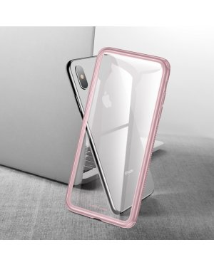 iPhone XS Glass Case - Härdat glas - Rosa
