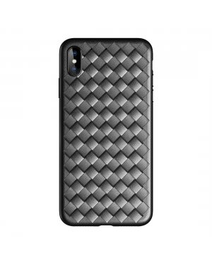 iPhone Xs Max ROCK Slim Weave skal - Svart