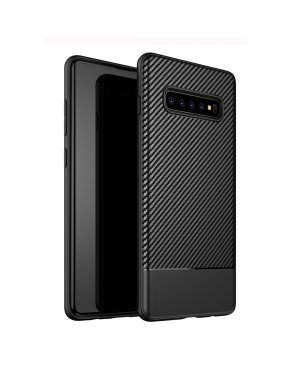 Galaxy S10 Plus Carbon Fiber skal - Svart