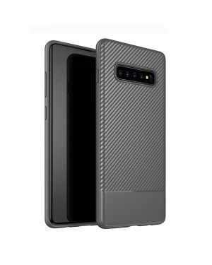 Galaxy S10 Plus Carbon Fiber skal - Grå