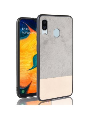 Galaxy A40 Mobilskal - Denim - Grå