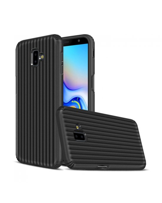 Galaxy J6 Plus Mobilskal - Travel case - Svart