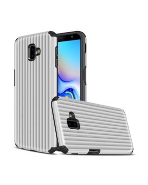Galaxy J6 Plus Mobilskal - Travel case - Silver