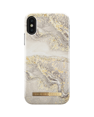 iPhone X / Xs Mobilskal - iDeal Of Sweden - SPARKLE GREIGE MARBLE