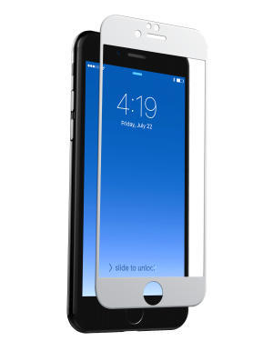 iPhone 7 / 8 Skärmskydd - InvisibleShield Glass Contour Screen - Vit